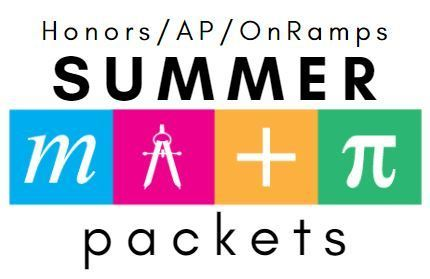 Math Summer Packets
