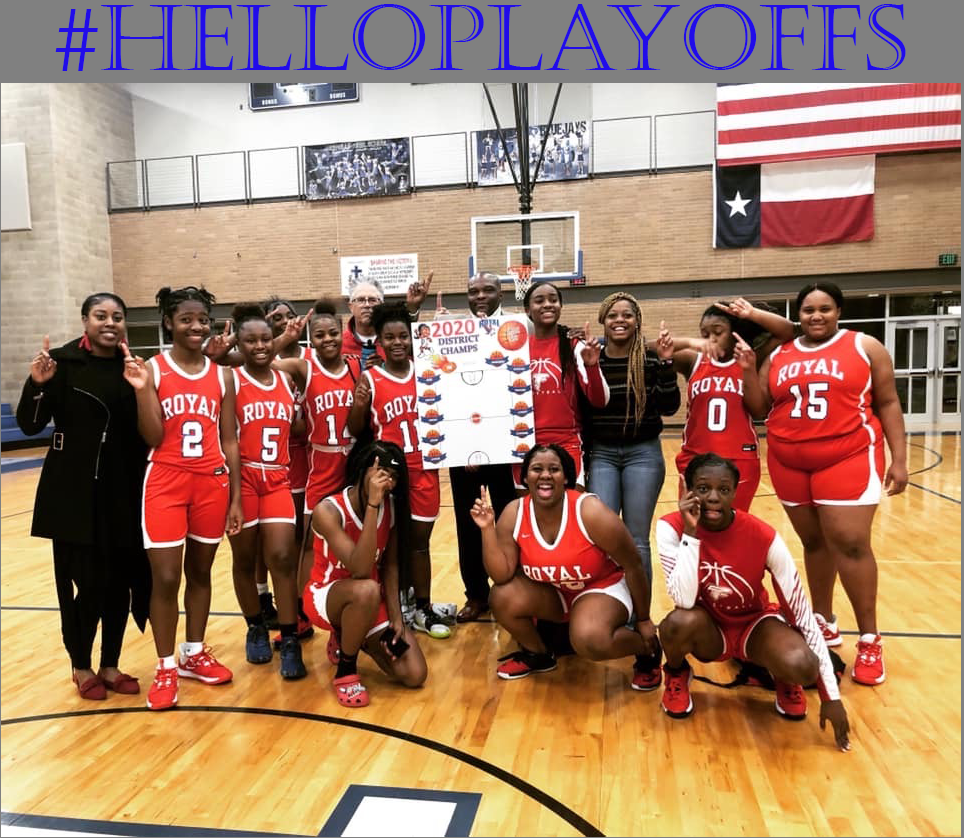Congratulations to District Champion Royal Lady Falcons!