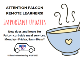 Curbside Meal Service Changes: New Days and Times!