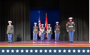Royal High School Marine ROTC Performance