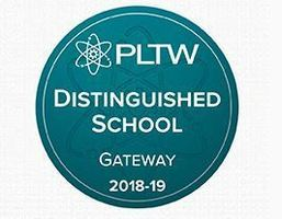 STEM earns the PLTW Distinguished School 2018-2019 Designation!