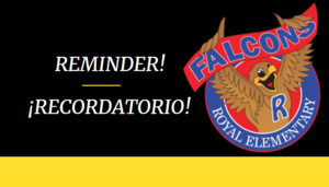 Announcement for Falcon Grades 2-5:  Return to Face-to-Face Learning