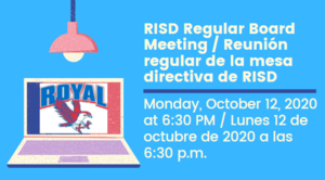 10.12.2020 RISD REGULAR BOARD MEETING: NOTICE TO THE PUBLIC OF TELEPHONE OR VIDEO CONFERENCING