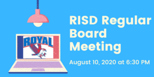 8.10.2020 RISD REGULAR BOARD MEETING: NOTICE TO THE PUBLIC OF TELEPHONE OR VIDEO CONFERENCING