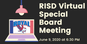 6.9.2020 RISD SPECIAL BOARD MEETING: NOTICE TO THE PUBLIC OF TELEPHONE OR VIDEO CONFERENCING