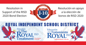 ​ Resolution by The West I-10 Chamber of Commerce in Support of The Royal  2020 Bond Election