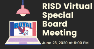 6.23.2020 RISD SPECIAL BOARD MEETING: NOTICE TO THE PUBLIC OF TELEPHONE OR VIDEO CONFERENCING