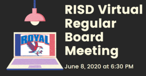 6.8.2020 RISD REGULAR BOARD MEETING: NOTICE TO THE PUBLIC OF TELEPHONE OR VIDEO CONFERENCING