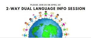 Join us on April 20 to Learn about the RISD Dual 2-Way Language Program!
