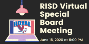 6.16.2020 RISD SPECIAL BOARD MEETING: NOTICE TO THE PUBLIC OF TELEPHONE OR VIDEO CONFERENCING