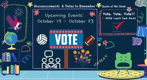Week of 10/19-10/23: Sports, Early Voting, RISD Bond 2020 Facts, Falcon Flowers, Houston Food Bank, and More!