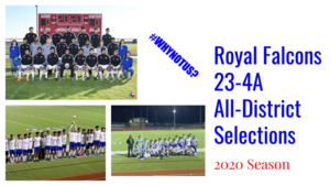 RHS Men's Soccer All-District Honors Recipients​