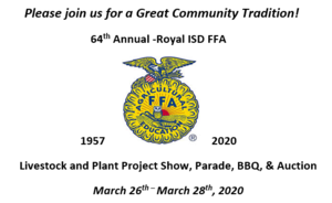 2020 Livestock and Plant Project Show, Parade, BBQ, & Auction