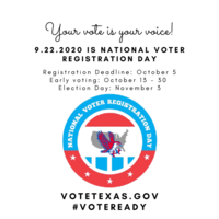 Today is  National Voter Registration Day: Your Vote is Your Vote!