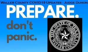 3.22.2020 Judge Duhon COVID-19 Update for Waller County