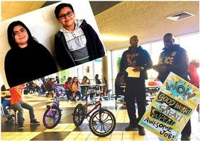 Star Students Rewarded with Bikes by RISD/Brookshire Police Officers