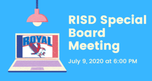 7.9.2020 RISD SPECIAL BOARD MEETING: NOTICE TO THE PUBLIC OF TELEPHONE OR VIDEO CONFERENCING