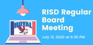 7.13.2020 RISD REGULAR BOARD MEETING: NOTICE TO THE PUBLIC OF TELEPHONE OR VIDEO CONFERENCING