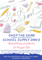 School Supply Drive Announcement