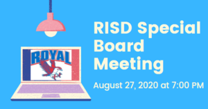8.27.2020 RISD SPECIAL BOARD MEETING: NOTICE TO THE PUBLIC OF TELEPHONE OR VIDEO CONFERENCING