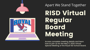 5.11.2020 RISD REGULAR BOARD MEETING: NOTICE TO THE PUBLIC OF TELEPHONE OR VIDEO CONFERENCING