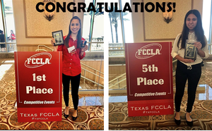 Two Royal ISD Students Qualify for FCCLA State Competition