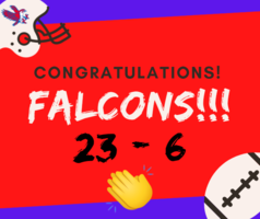 Great job, Falcons!