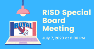 7.7.2020 RISD SPECIAL BOARD MEETING: NOTICE TO THE PUBLIC OF TELEPHONE OR VIDEO CONFERENCING