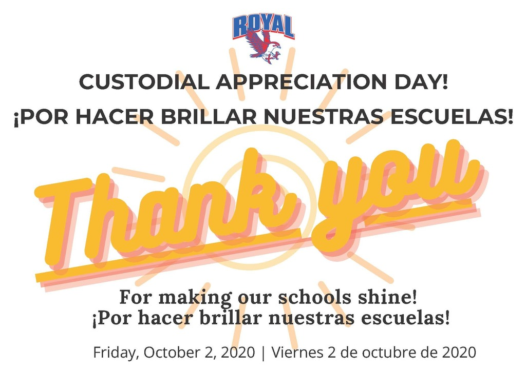 "2020 Custodian Appreciation Day: Thank you for making our schools shine! We can't thank you enough for all that you do! ""No one is more cherished in this world than someone who lightens the burden of another."" #CustodialWorkersRecognitionDay"
