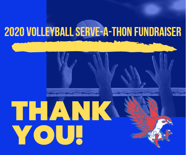 The Lady Falcon Volleyball Team would like to give a huge THANK YOU for making our Serve-a-Thon Fundraiser a success! We look forward to forward to seeing you at our next home game on Tuesday, October 6th against Bellville (JV@ 5, Varsity @6)!  https://bit.ly/3leoio9