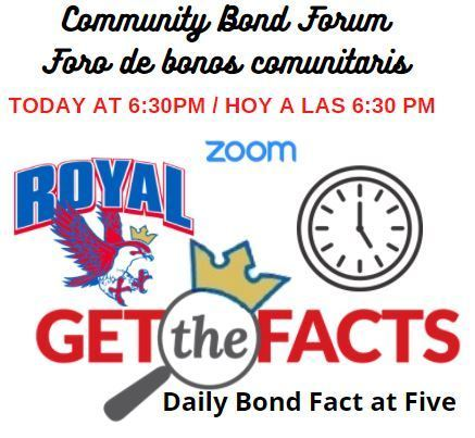Get the facts on RISD Bond 2020! There's still time to join tonight's Community Bond Forum! Visit bit.ly/2SY0EA3 to hear more information on RISD Bond 2020 and to participate in the Question & Answer forum at its conclusion. Complete information: https://bit.ly/379S1KV