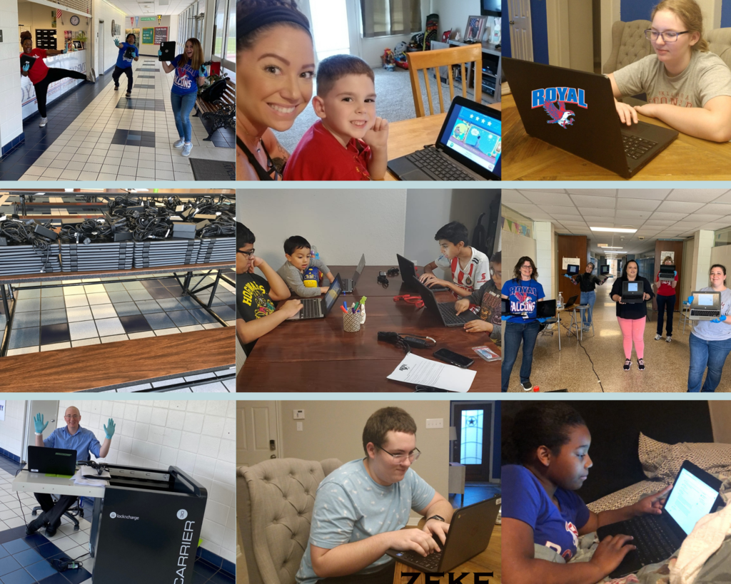 Before COVID-19, Royal was 75% one-to-one technology, meaning that RISD had supplied 75% of Falcons with a device for learning purposes. This allowed RISD to quickly bring that number to 100%. Thank you to our superhero Technology Team for helping our Falcons soar every day!