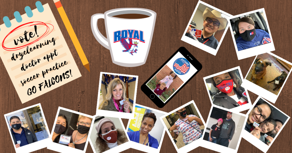 "Only TWO days left to vote! Friday 10/30 is the final day of early voting, and Tuesday 11/3 is Election Day! Yesterday we shared additional resources related to Royal ISD Bond 2020 (http://bit.ly/votefalconsvote). Remember: ""Do Your Research, Get the Facts, and VOTE!"" Thank you for being our partner in learning! Have a great evening!"