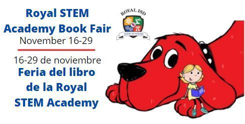 The Royal STEM Academy Scholastic Book Fair begins on Monday, November 16. While the Fair will be exclusively held online this year, we still plan on making it a fun and joyous experience for our kids. Visit https://bit.ly/2JVBvVh to view a promo video for the book fair.