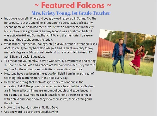 Royal Elementary Featured Falcons: A way to appreciate our amazing staff! #DreamBig