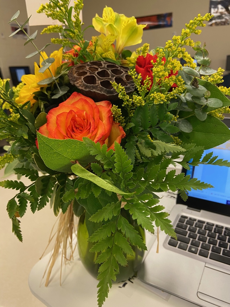 RHS technology teacher Ms. Olison, technology, and flowers: the perfect combination. Visit https://www.royal-isd.net/article/336508?org=royal-isd to learn more and place your order for a floral design from our Advanced Floral Design class. Thank you for supporting Ag Education.
