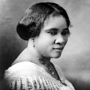 Madam C.J. Walker was born on a cotton plantation in Louisiana and became wealthy after inventing a line of African American hair care products. She established Madame C.J. Walker Laboratories and was known for her philanthropy. https://www.biography.com/inventor/madam-cj-walker