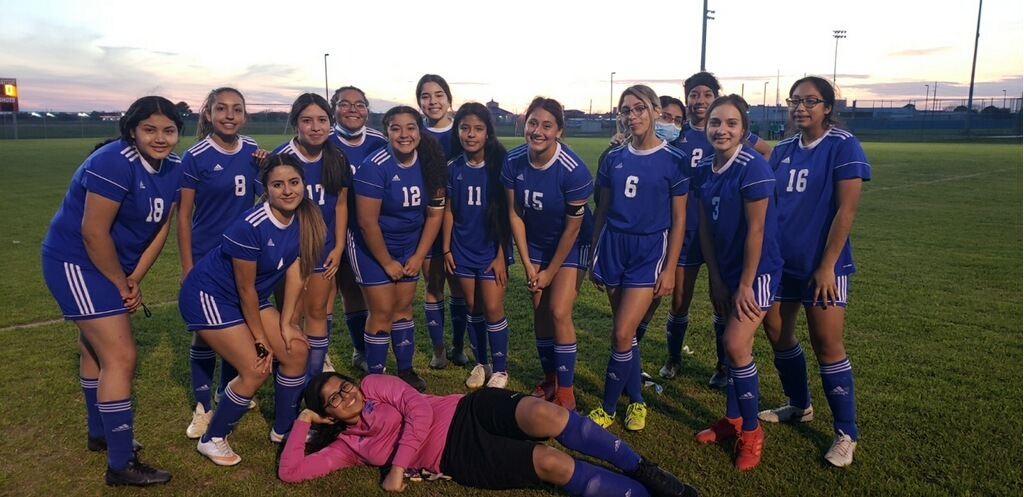 The Falcon girls soccer team recorded their first district win against Hempstead Tuesday night with a score of 4-1. Congratulations, ladies!