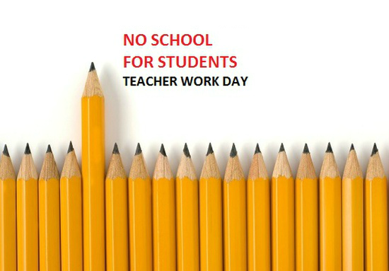 REMINDER! Monday, February 8 is a student holiday (Staff Professional Day). Enjoy your day off!