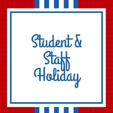 Reminder! Monday, 2/15 is a student and staff holiday!