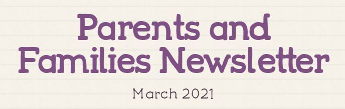 The newest issue of Parents and Families Newsletter has been released! Visit https://www.smore.com/2sjwt to read the new edition.