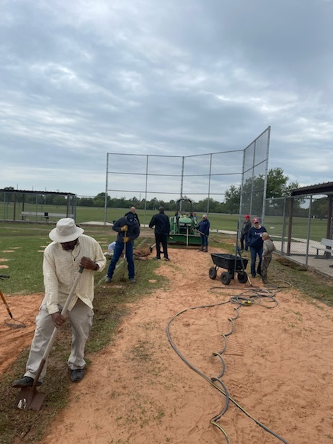 Coming soon: The Brookshire Youth Sports League (BYSL) opening day is on April 10! Thank you to the Falcon community leaders, school board members, district employees, students, and players' parents who helped the district prepare the field.