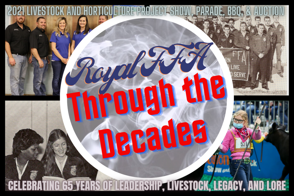 "Join Royal FFA for a walk down memory lane as we celebrate 65 years of excellence in agricultural education! Visit http://bit.ly/65yearsofexcellence for a video history of ""Leadership, Livestock, Legacy, and Lore"" at Royal ISD! @royal-ffa"