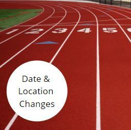 Area Track Meet Update: The Area track meet location has been changed to Sealy, and will take place on Wednesday, April 14 only.