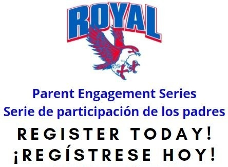 Reminder! The next Parent Engagement Series session will take place on May 19.  We need your feedback! Please also complete the Royal ISD Parent Engagement Survey today before it closes!  Visit https://www.royal-isd.net/article/457381 for complete details and links.