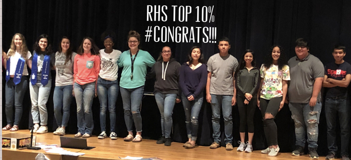 RHS Class of 2019 top 10%