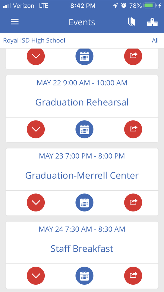 This weeks event !!!! Graduation 5/23/19