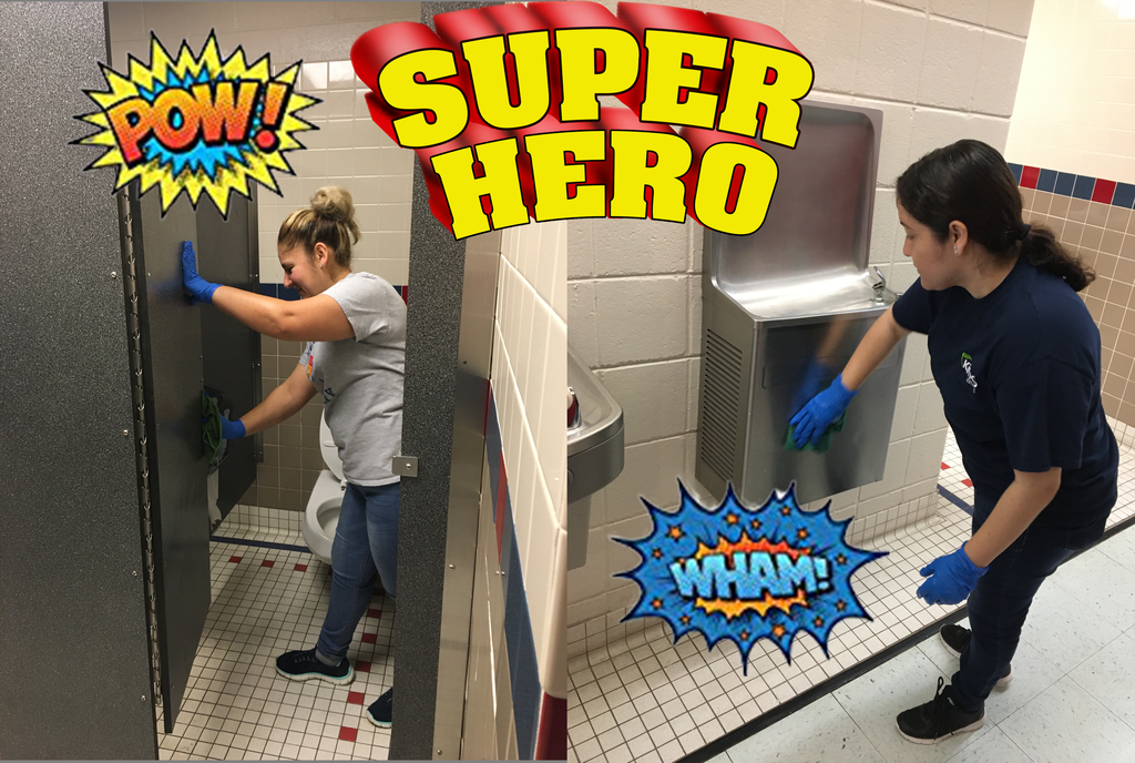 Our superhero custodial team is hard at work today at the STEM campus! Thank you thank you thank you!