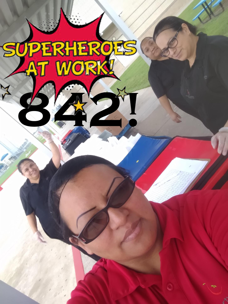 Superheroes at work! Our Food Services team distributed 842 meals today!