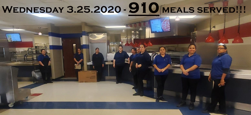Wednesday 3.25.2020 - 910 meals served!!!